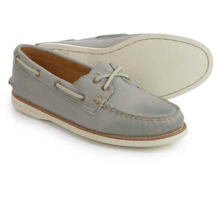Sperry Gold Cup A/O Honeycomb Boat Shoes - Leather (For Women) in Light Grey - Closeouts