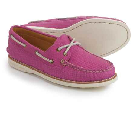 Sperry Gold Cup A/O Honeycomb Boat Shoes - Leather (For Women) in Pink - Closeouts