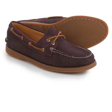 Sperry Gold Cup A/O Honeycomb Boat Shoes - Leather (For Women) in Wine - Closeouts