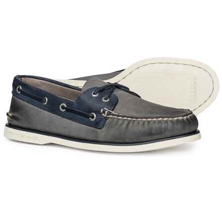 Sperry Gold Cup Authentic Original 2-Eye Boat Shoe (For Men) in Grey/Navy