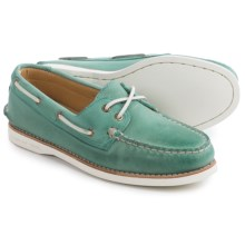 Sperry Gold Cup Authentic Original 2-Eye Boat Shoes - Leather (For Women) in Turquoise - Closeouts