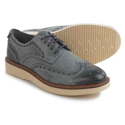 Sperry Gold Cup Wingtip Wedge Oxford Shoes - Leather (For Men) in Grey - Closeouts