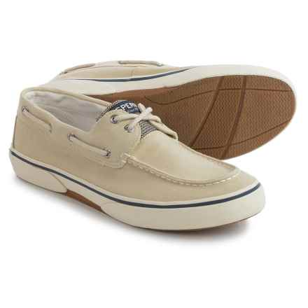 Sperry Halyard 2-Eye SW Boat Shoes (For Men) in Ecru - Closeouts