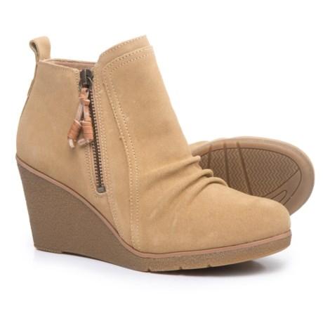 Sperry Harper Kara Wedge Boots - Suede (For Women) in Sand
