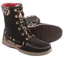 Sperry Hikerfish Boots (For Women) in Black/Leopard - Closeouts
