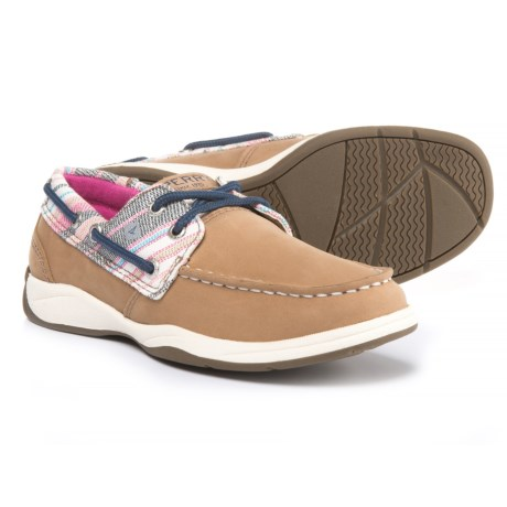 Sperry Intrepid Boat Shoes (For Girls) in Linen/Beach Stripe