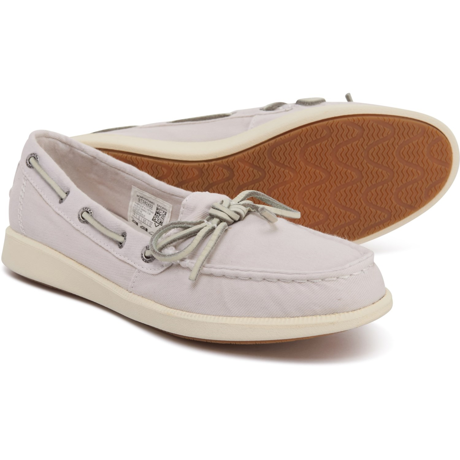 Sperry Ivory Oasis Canal Canvas Boat Shoes For Women