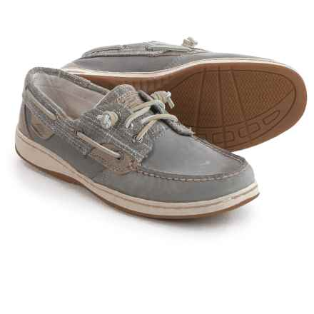 Sperry Ivyfish Sparkle Boat Shoes - Leather (For Women) in Grey - Closeouts