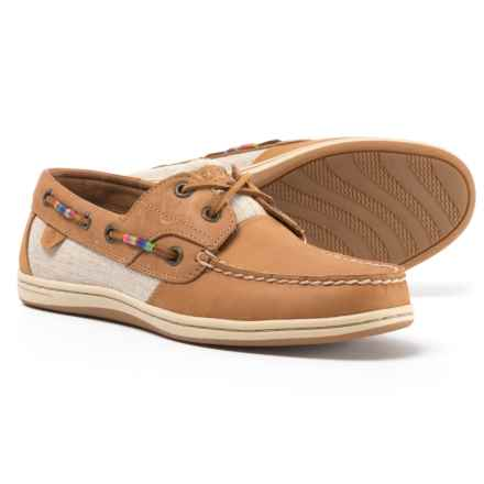 Sperry Koifish Thread Wrap Boat Shoes - Leather (For Women) in Tan - Closeouts