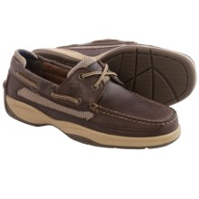 Sperry Lanyard Boat Shoes - Leather (For Men) in Dark Brown - Closeouts