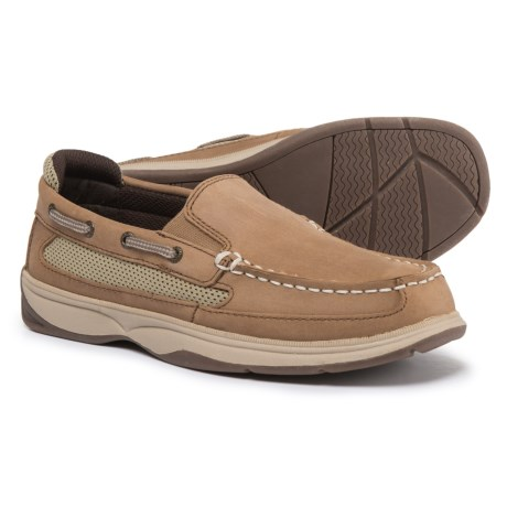 Sperry Lanyard Shoes - Nubuck (For Boys) in Dark Tan