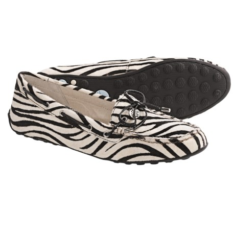 Sperry  Laura Driving Moccasins (For Women) in Black/White Zebra