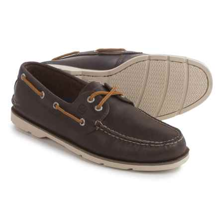 Sperry Leeward 2-Eye Boat Shoes - Leather (For Men) in Dark Brown - Closeouts