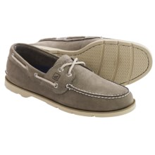 Sperry Leeward Boat Shoes - Nubuck (For Men) in Grey - Closeouts
