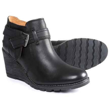 Sperry Liberty Rosa Wedge Ankle Booties - Leather (For Women) in Black - Closeouts