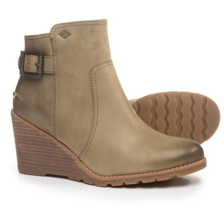 Sperry Liberty Wedge Boots - Leather (For Women) in Clove