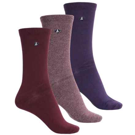 Sperry Lightweight Socks - 3-Pack, Crew (For Women) in Griffin Windsor - Closeouts