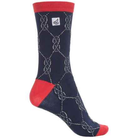 Sperry Lightweight Socks - Crew (For Women) in Navy - Closeouts