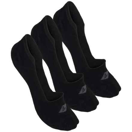 Sperry Mid Vamp Liner Socks - 3-Pack, Below the Ankle (For Women) in Black - Closeouts