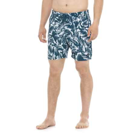 Sperry Monotone Leaf Swim Trunks (For Men) in Navy/White - Closeouts