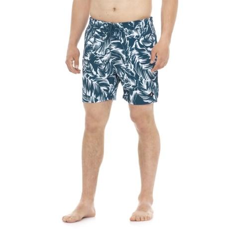 Sperry Monotone Leaf Swim Trunks (For Men) in Navy/White