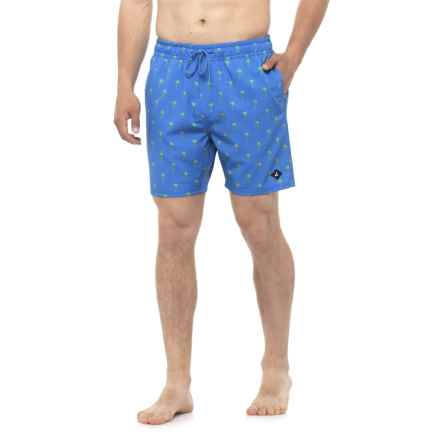 Sperry Palms Swim Trunks - Built-In Briefs (For Men) in Periwinkle - Closeouts