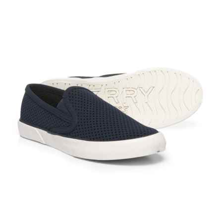 Sperry Pier Side Sneakers - Slip-Ons (For Women) in Navy - Closeouts