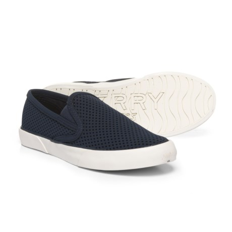 Sperry Pier Side Sneakers - Slip-Ons (For Women) in Navy