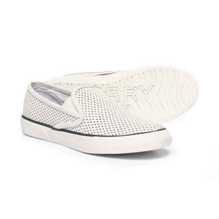 Sperry Pier Side Sneakers - Slip-Ons (For Women) in White - Closeouts