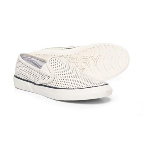 Sperry Pier Side Sneakers - Slip-Ons (For Women) in White