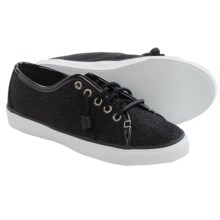 Sperry Seacoast Caviar Sneakers - Leather (For Women) in Caviar Black - Closeouts
