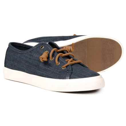 Sperry Seacoast Sneakers - Leather (For Women) in Denim - Closeouts