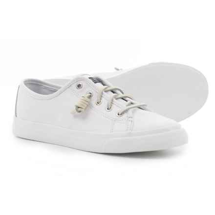 Sperry Seacoast Sneakers - Leather (For Women) in White - Closeouts