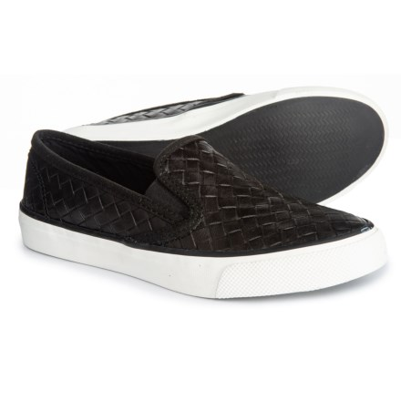 c493a7e7b56 Sperry Seaside Nautical Perforated Sneakers (For Women) in Black