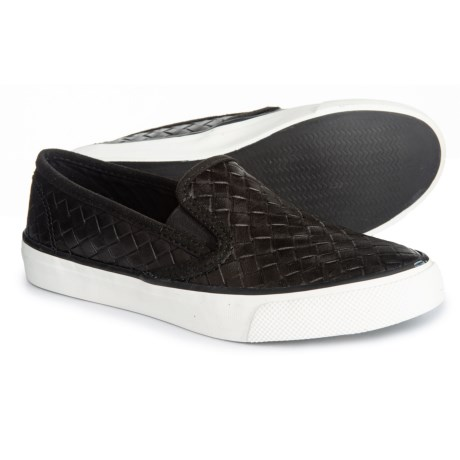 aa7e6717610 Sperry Seaside Nautical Perforated Sneakers (For Women) in Black