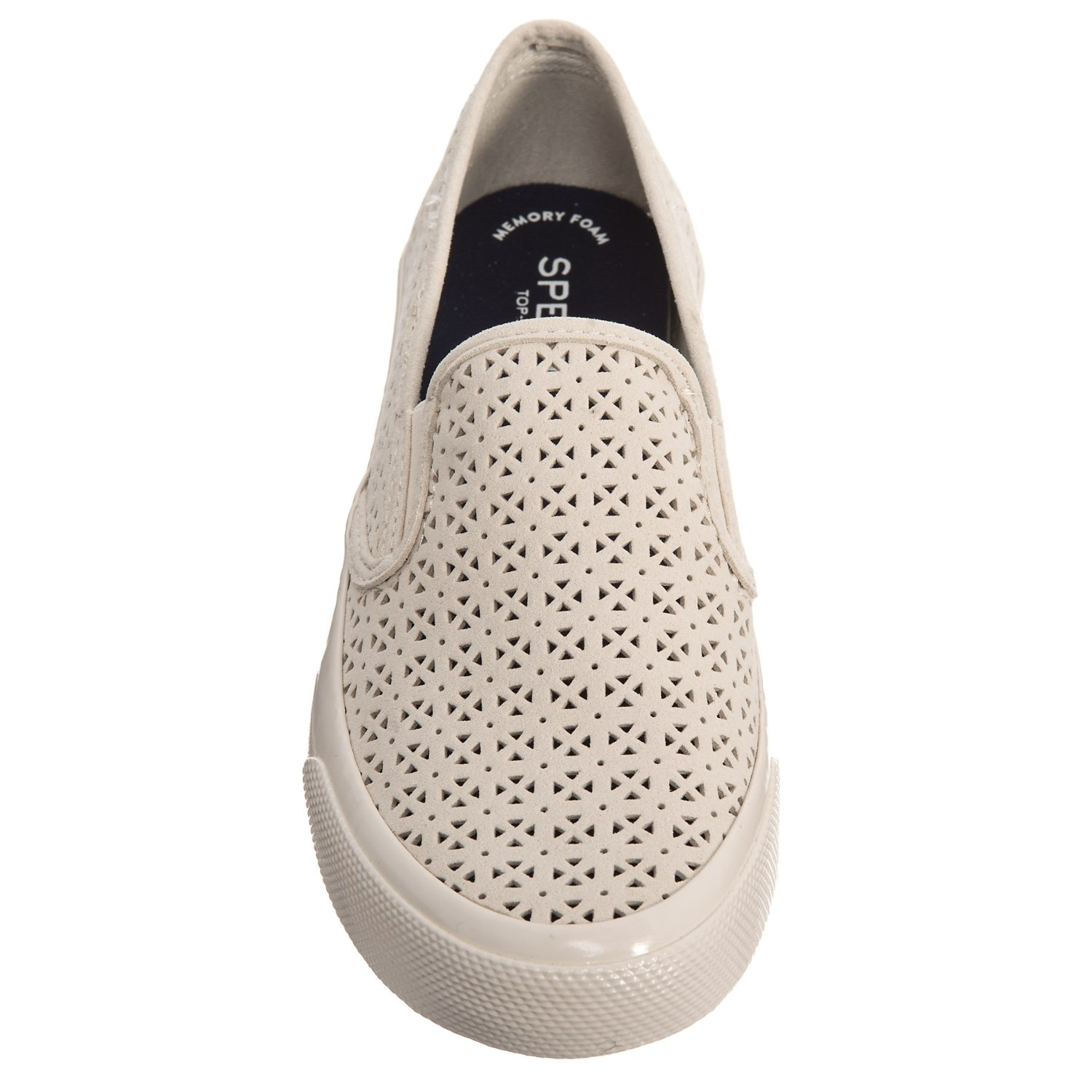 60407107ea02 Sperry Seaside Nautical Perforated Sneakers (For Women)