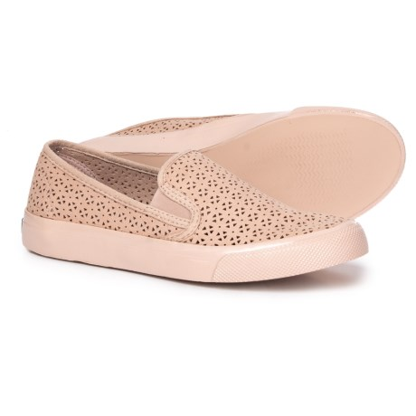 2582ae904b3 Sperry Seaside Perforated Sneakers (For Women) in Natural Rose