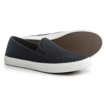 Sperry Seaside Scale Sneakers - Leather (For Women) in Navy - Closeouts