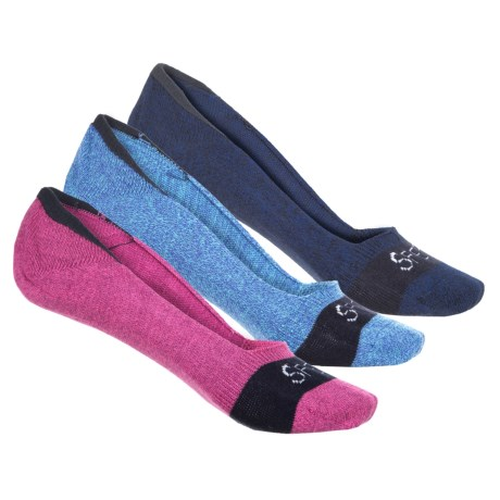 Sperry Signature Invisible Liner Socks - 3-Pack, Below the Ankle (For Women) in Pink