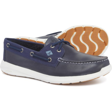 dfbe6cc11aca Sperry Sojourn 2-Eye Boat Shoes - Leather (For Men) in Navy