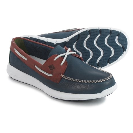 Sperry Sojourn Boat Shoes - Suede (For Men) in Navy/Red