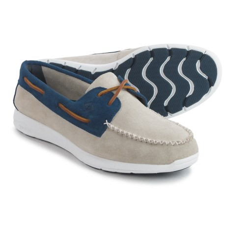 Sperry Sojourn Boat Shoes - Suede (For Men) in Oyster