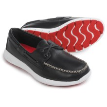 Sperry Sojourn Lace-Up Boat Shoes - Leather (For Men) in Black Leather - Closeouts
