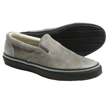 Sperry Striper Leather Sneakers Slip Ons (For Men)