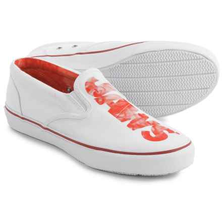 Sperry Striper Logo Shoes- Slip-Ons (For Men) in White - Closeouts