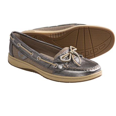 Sperry Top-Sider Angelfish Shoes (For Women) in Pewter Metallic Leather