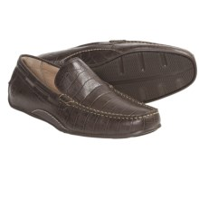 Sperry Top-Sider Atlas Driver Venetian Loafer Shoes - Leather, Slip-Ons (For Men) in Dark Brown Croc - Closeouts