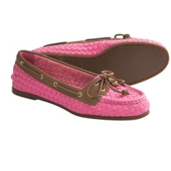 Sperry Top-Sider Audrey Woven Boat Shoes (For Women) in Silver