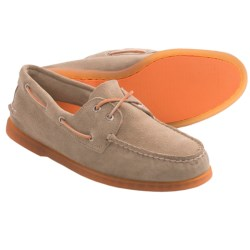 Sperry Top-Sider Authentic Original 2-Eye Boat Shoes (For Men) in Ice Suede Sand/Orange