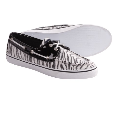 Sperry Top-Sider Bahama Boat Shoes (For Women) in Black/Zebra Sequins
